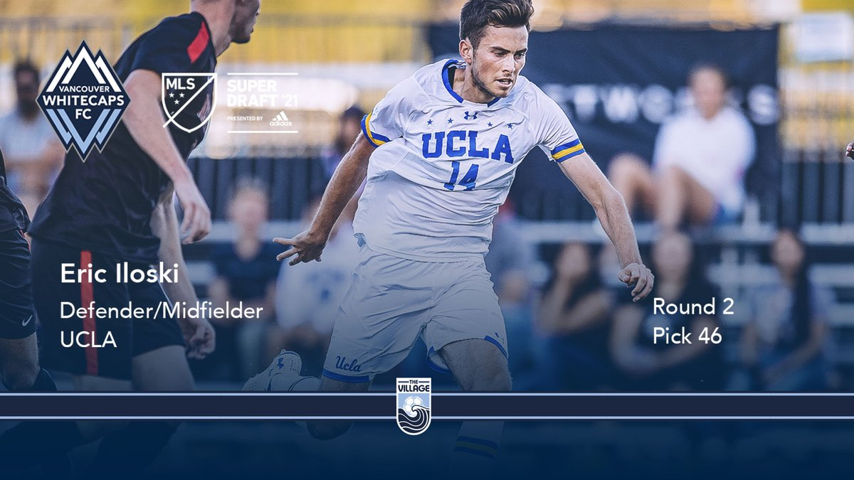 🐻 @UCLAMSoccer ➡️ @WhitecapsFC 🌊   With pick number 4️⃣6️⃣ in the 2021 @MLS #SuperDraft by @adidas, we've selected @eric_iloski  Welcome to the Village, Eric 🌊  #VWFC #ItTakesAVillage