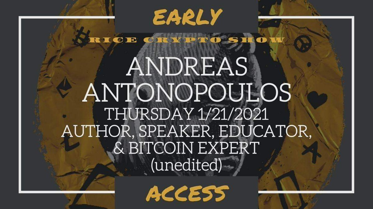 I interviewed @aantonop today & it is available right NOW on my #Patreon channel! Get #EarlyAccess to the full, #unedited video by becoming a #Patron! You also get #ExclusiveVideos & help support what I do directly! 💚🙏🏻💚Much love 👇🏻👇🏻👇🏻