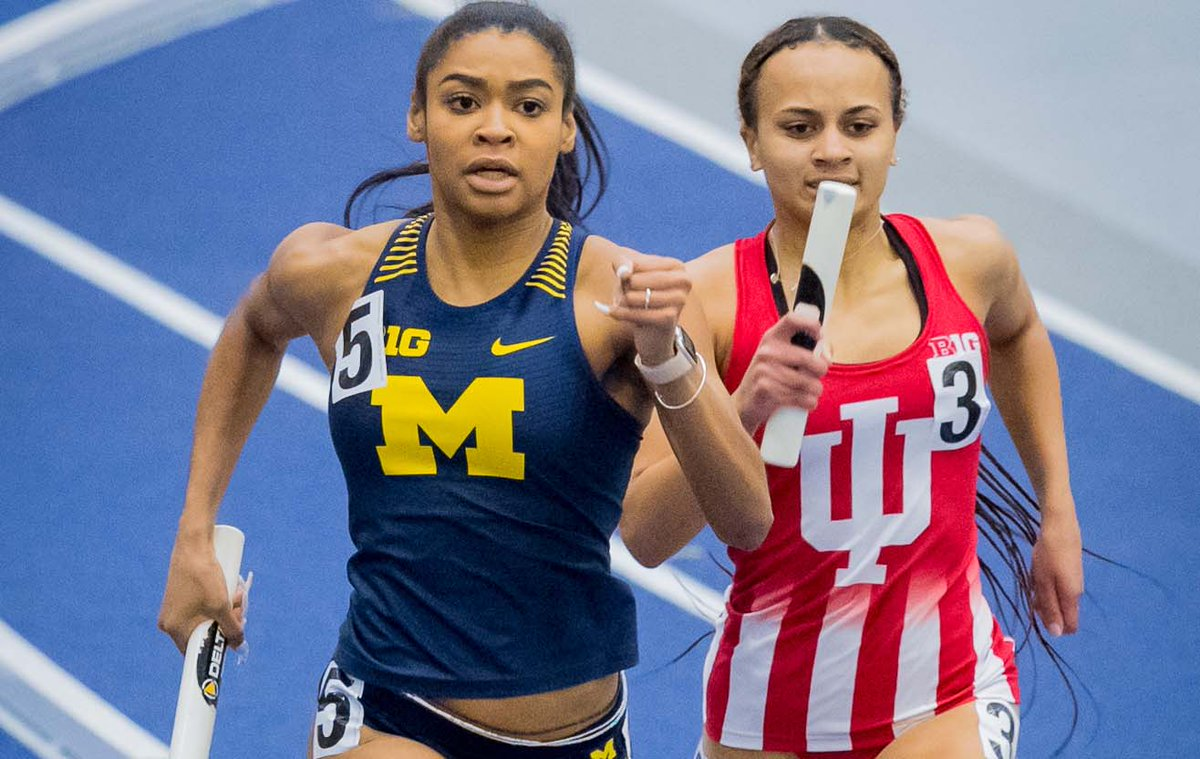 Michigan's Ziyah Holman (@ohhthatszyyy) hopes viral sprint inspires others to never give up. Story from @chengelis