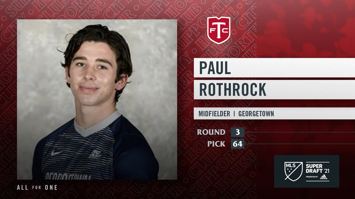 With the 64th pick of the 2021 MLS #SuperDraft, the Reds select Paul Rothrock from @GUHoyasMSoccer. #TFCLive