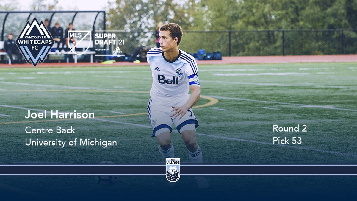 🏠 @WFCAcademy ➡️ 🇲 @umichsoccer ➡️ @WhitecapsFC 🌊   With pick 5️⃣3️⃣ in the 2021 @MLS #SuperDraft by @adidas, we've selected Langley's own Joel Harrison 🇨🇦  #VWFC #ItTakesAVillage
