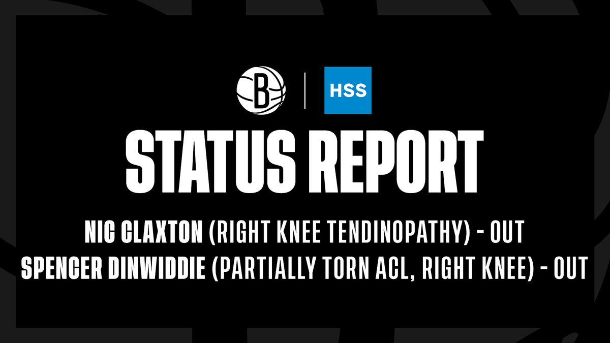 Nets @HSpecialSurgery Status Report for tomorrow's game in Cleveland: