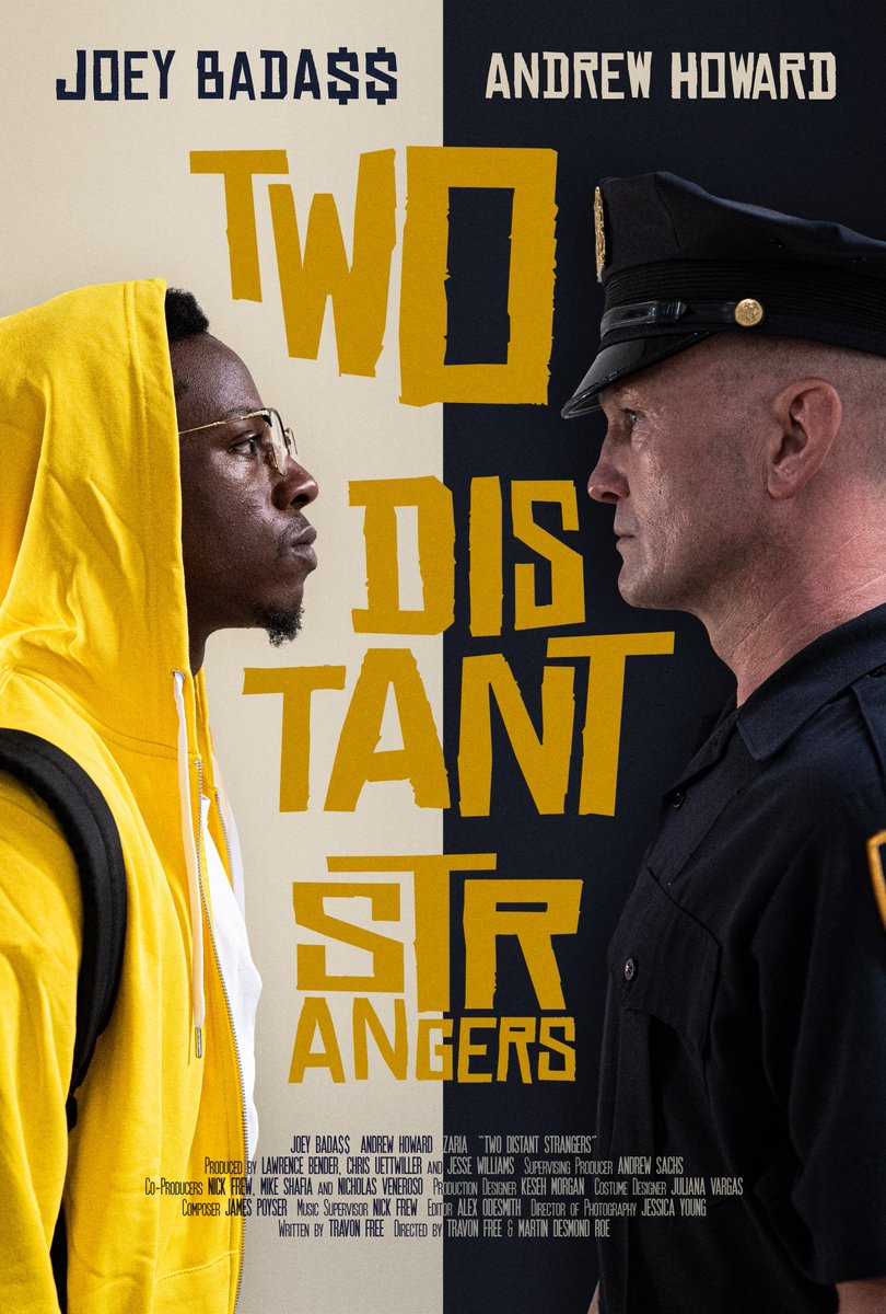 I had the chance to see this incredible short film called TWO DISTANT STRANGERS. Creative, timely, and POWERFUL performances and filmmaking. Shouts out to @Travon, @joeyBADASS and everyone involved. EP'd by @MCONLEY10, @KDTrey5 and @richkleiman @iJesseWilliams @VanLathan - 💯💥🏆