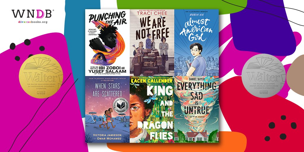 WNDB is pleased to announce the 2021 Walter Award winners and honorees, along with the sixth annual Symposium on diversity in children's literature, co-hosted by @librarycongress! The virtual Symposium and award ceremony will be on March 12: