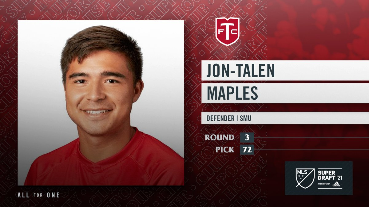 With the 72nd pick of the 2021 MLS #SuperDraft, the Reds select Jon-Talen Maples from @SMUSoccerM. #TFCLive