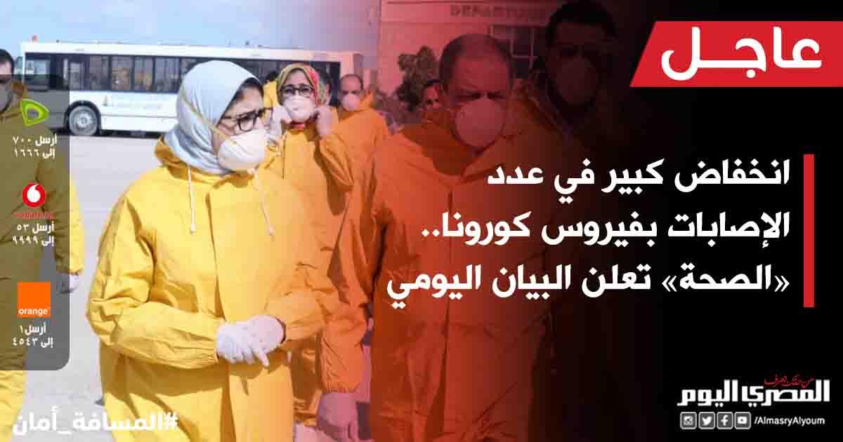 🔴 #عاجل| انخفاض كبير في عدد الإصابات بـ #فيروس_كورونا.. «#الصحة» تعلن البيان اليومي