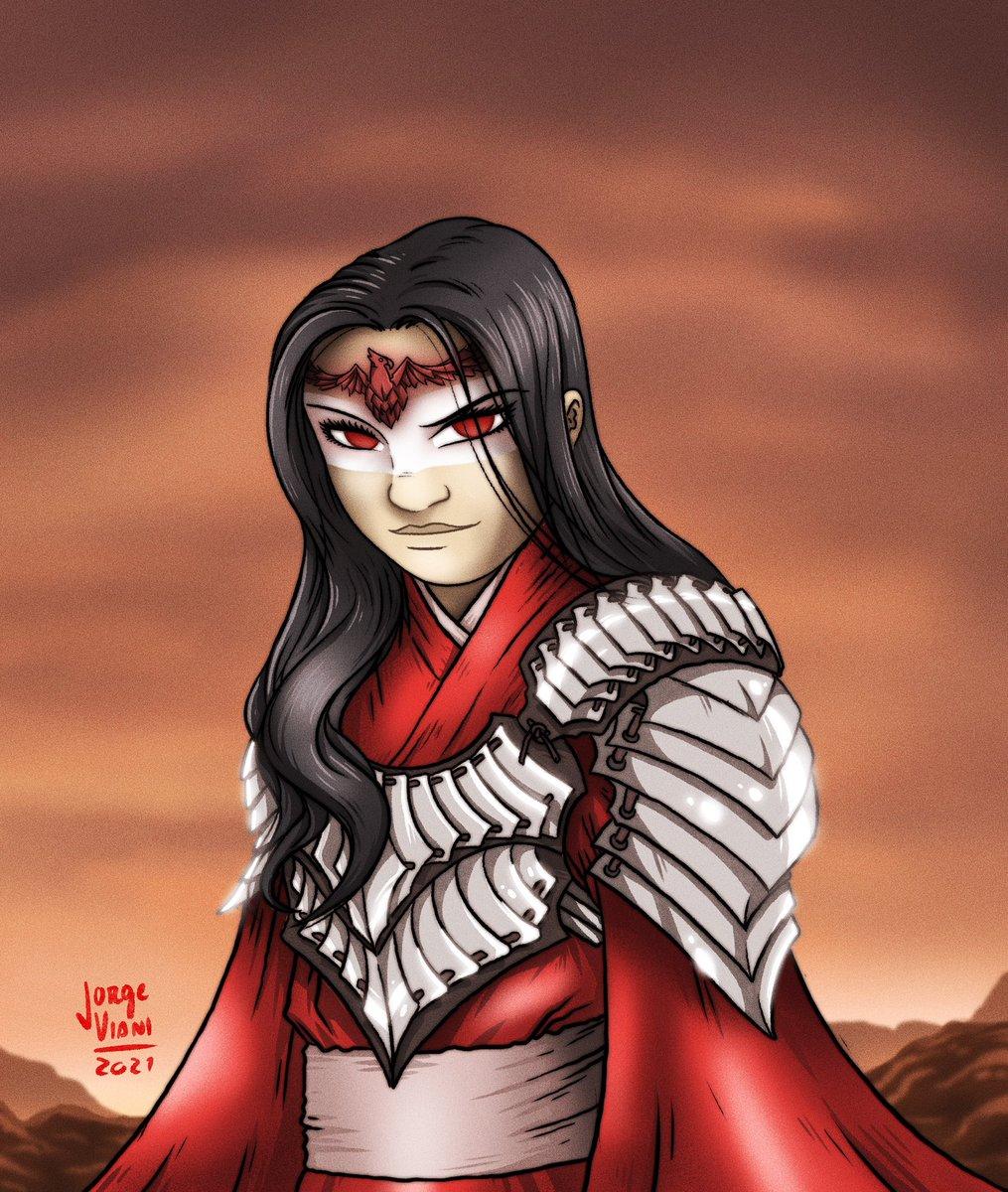 Dark Mulan. A versão que imaginei se a protagonista tivesse dado razão à bruxa Xianniang e se voltado contra o imperador #Mulan #Disney #illustration