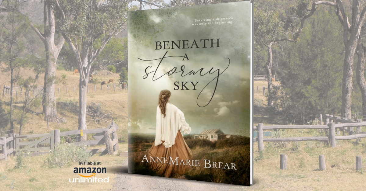 Beneath a Stormy Sky Surviving a shipwreck was the least of her problems. #Australianfiction #historicalfiction #kindleunlimited #paperback #colonial #pioneer #audio Amazon: