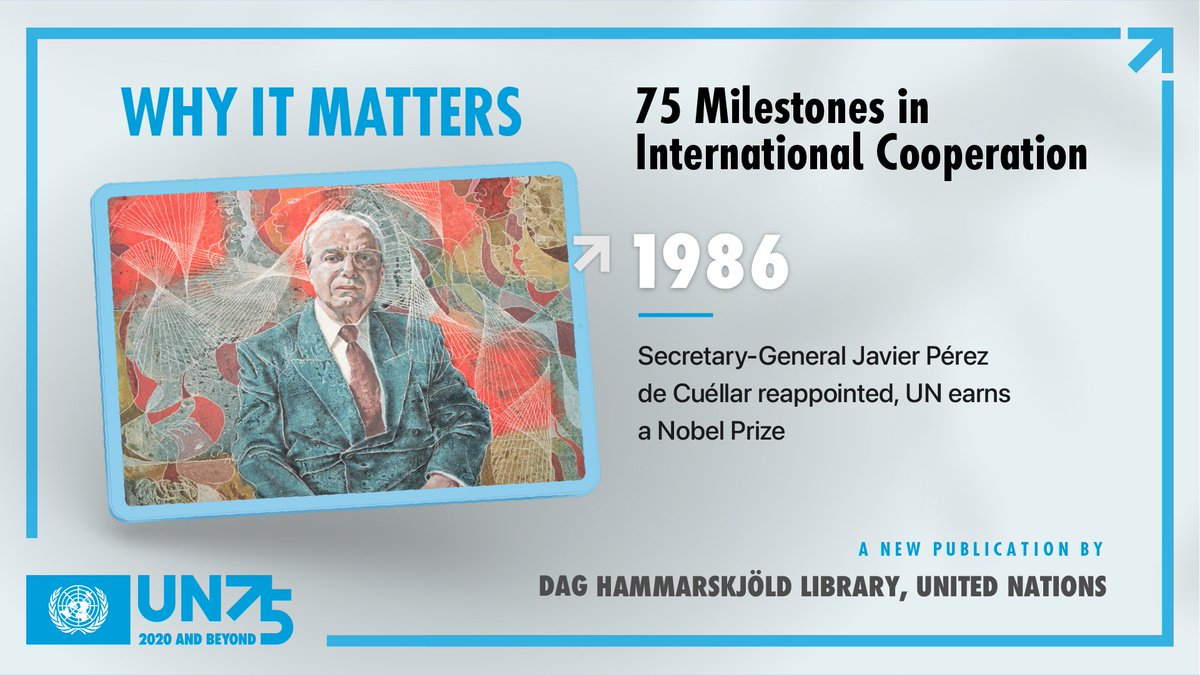 """""""Why It Matters"""" is the #UN Library's first ever e-publication. Visit  to discover the 75 Milestones in International Cooperation that shaped the history of the UN and our world in the last 75 years. #UN75"""