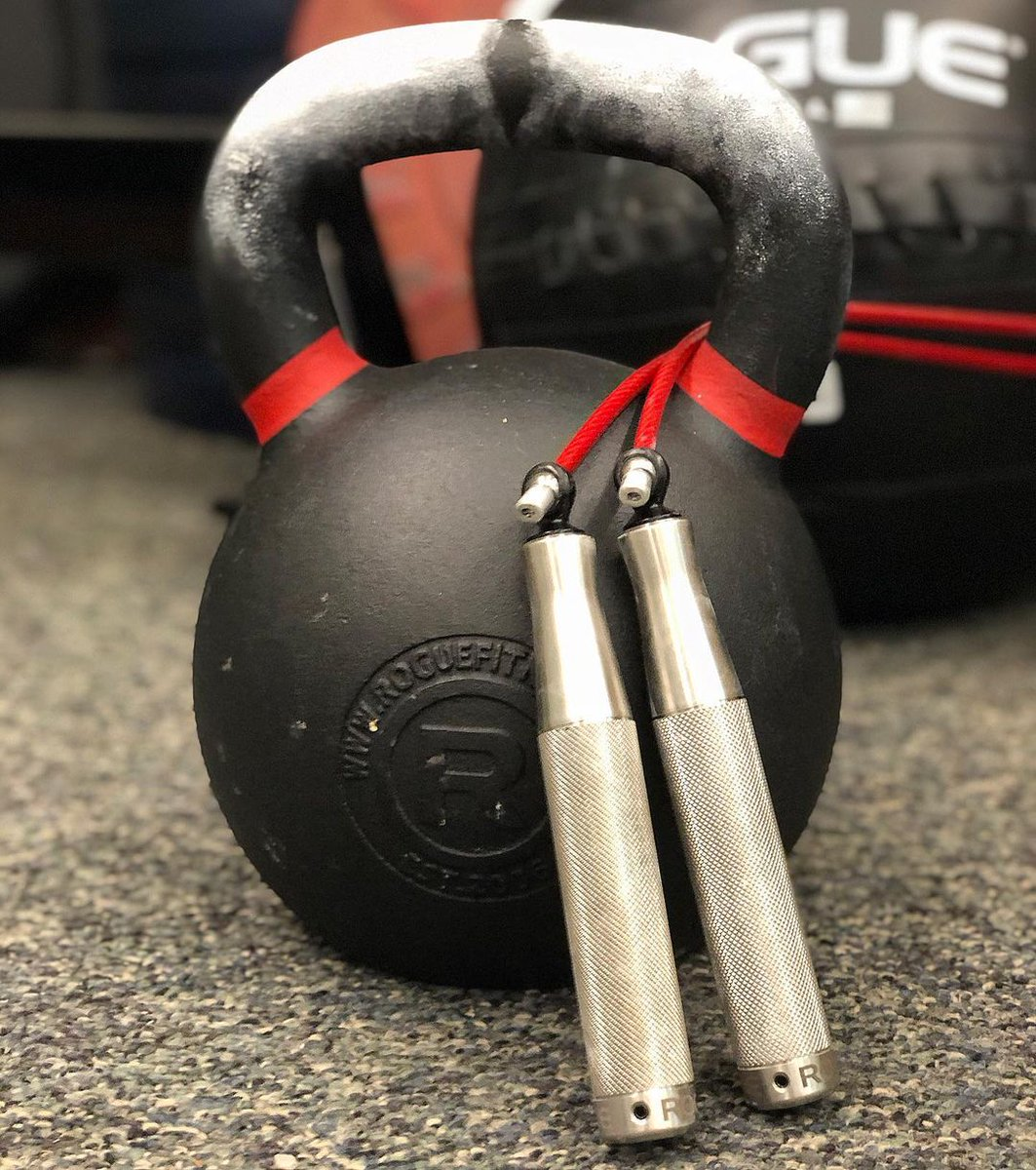 A kettlebell + a heavy rope. What's your workout? #ryourogue  Shop Conditioning Gear:   Photo: g2fitness