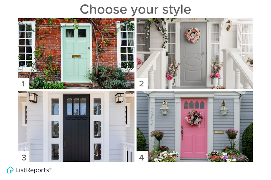 A fresh coat of paint is an easy way to brighten up your house and increase curb appeal. Which of these options would you choose? Leave me a comment and let me know!  #home #house  #shutthefrontdoor #homediy #homestyle #homedecor #curbappeal #realestate  #colorful  #dreamhome