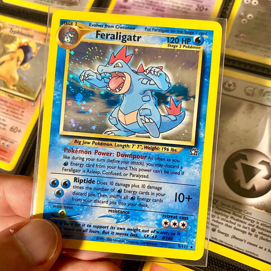 Our card of the day is Feraligatr from Neo Genesis! Back in 2001 I came in 3rd place at San Diego's Super Trainer Showdown with my Riptide deck. :p Good times. #PokemonTCG