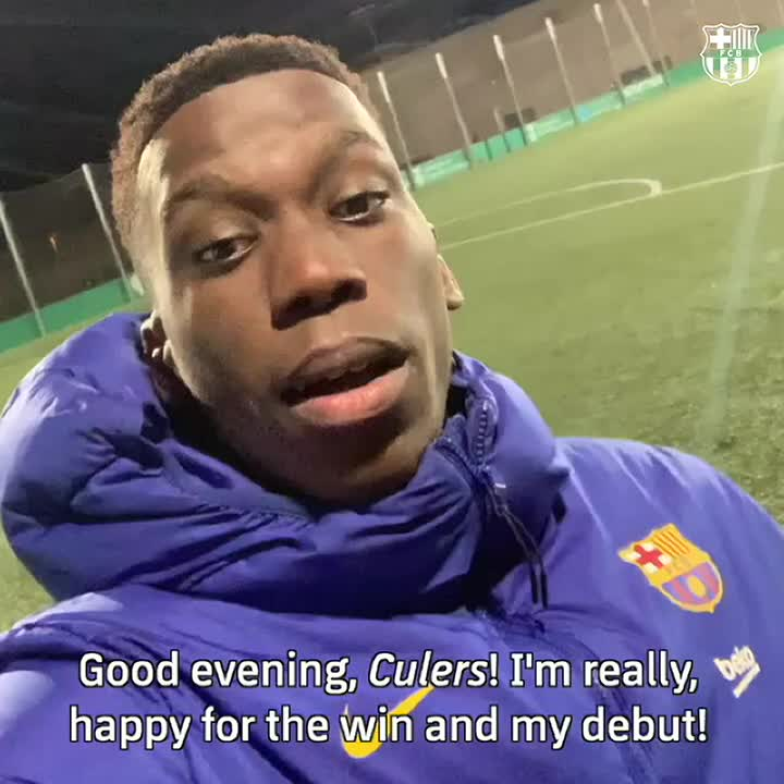 A message to #Culers from Mr. Debut, @IlaixMK! ✌️