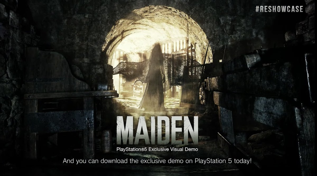 """Exclusive demo announced for PS5 called """"Maiden"""" which is available today.  A demo for all platforms will come later in Spring.  #REBHFun #RESIDENTEVIL8 #RE8 #ResidentEvilVillage #PS5 #Xbox #horrorgame #REShowcase"""