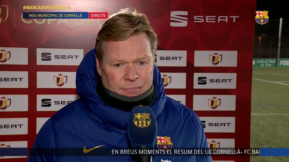 🎙 @RonaldKoeman analyzes the win over Cornellà in the Copa del Rey last 32.