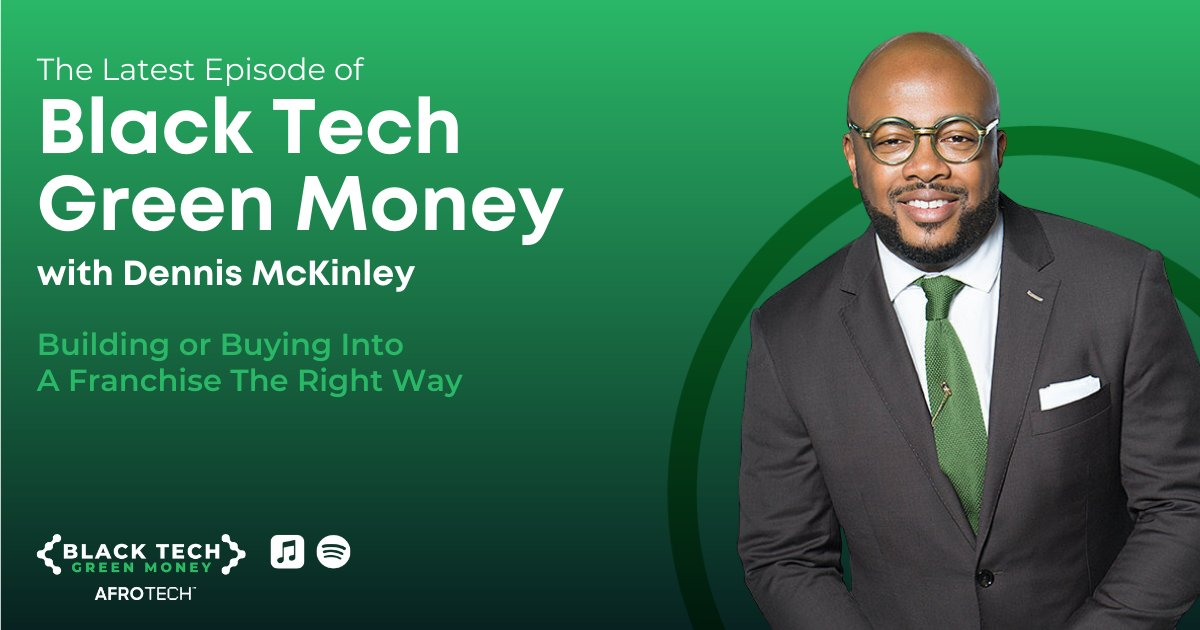 Investor, Restaurateur and Serial Entrepreneur Dennis McKinley graced the #BlackTechGreenMoney podcast for our latest episode 🙌🏿 ⠀ @Afrotech's @will_lucas spoke with Dennis about building a brand that gets customers excited + more! 👀⠀ ⠀ 🎙 Listen now: