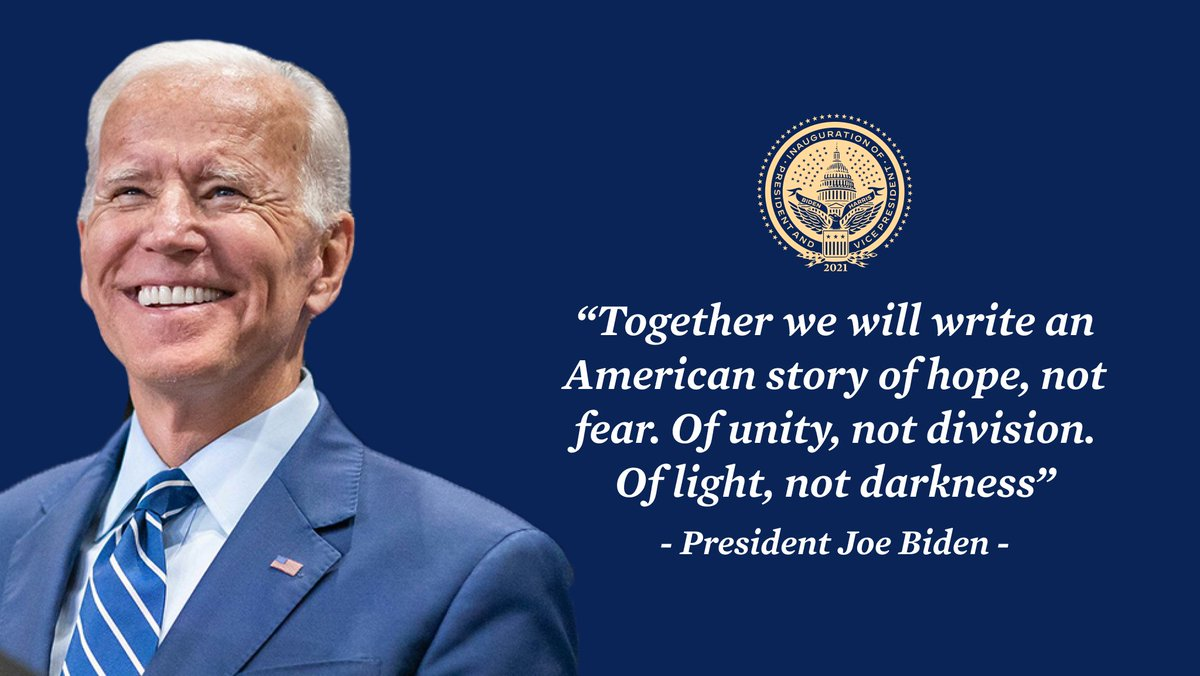 The President of the United States of America: Joseph Robinette Biden, Jr. 🇺🇸