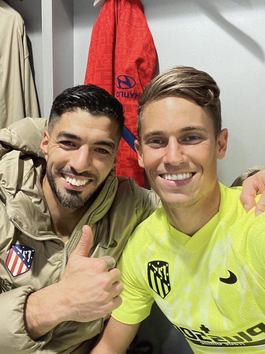 Yessss!!!! 3️⃣ puntos más que viajan a Madrid.  Orgulloso del trabajo del equipo hasta el último minuto.  ¡Enhorabuena, pistolero @LuisSuarez9 ! #AúpaAtleti