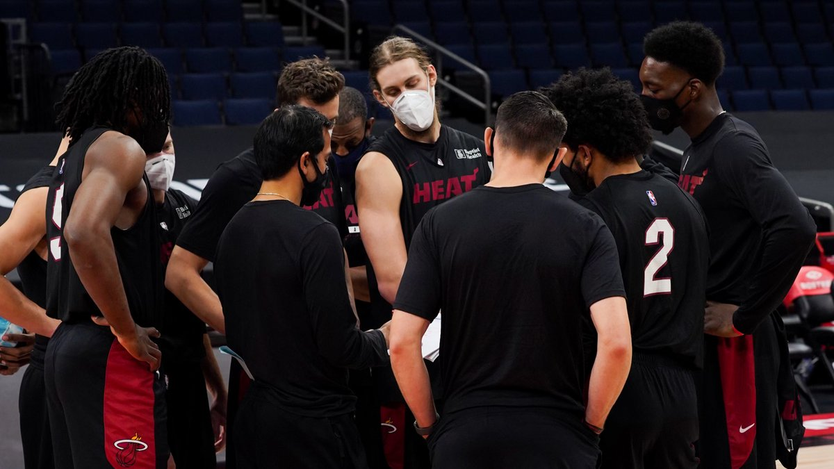 Getting right for Round 2 with the Raptors tomorrow ⁣⁣ 1% Better Everyday. #HEATCulture