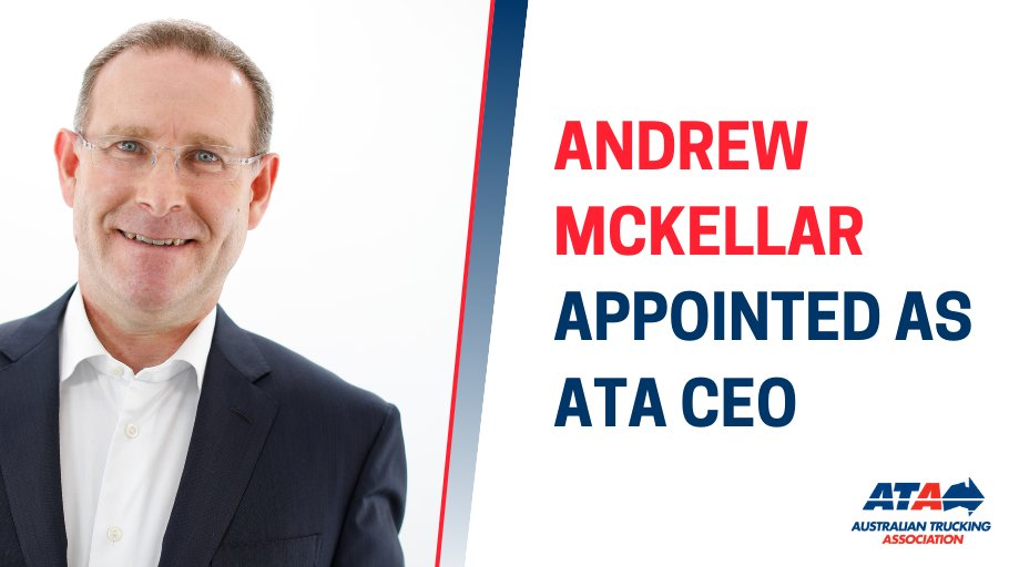 My congratulations to Andrew McKellar – I look forward to working with him and the ATA on the future success of the Australian heavy vehicle industry. #BuildingOurFuture  @TruckAustralia https://t.co/WTAgPqoyWb