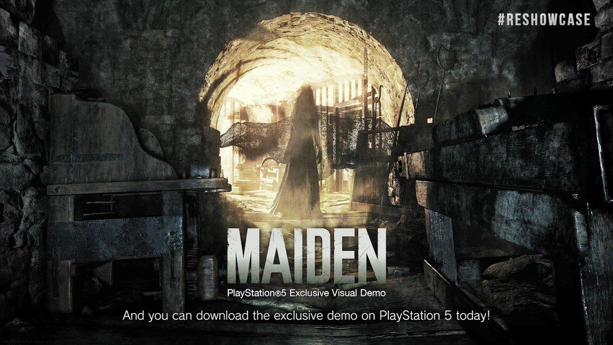 Durante il #REShowcase abbiamo mostrato un nuovo trailer:  e abbiamo annuciato l'arrivo della demo Maiden in esclusiva su #PS5 scaricabile ora!  #ResidentEvilVillage sarà disponibile dal 7 maggio 2021 su #Playstation4 #PlayStation5 #XboxOne #XboxSeriesX