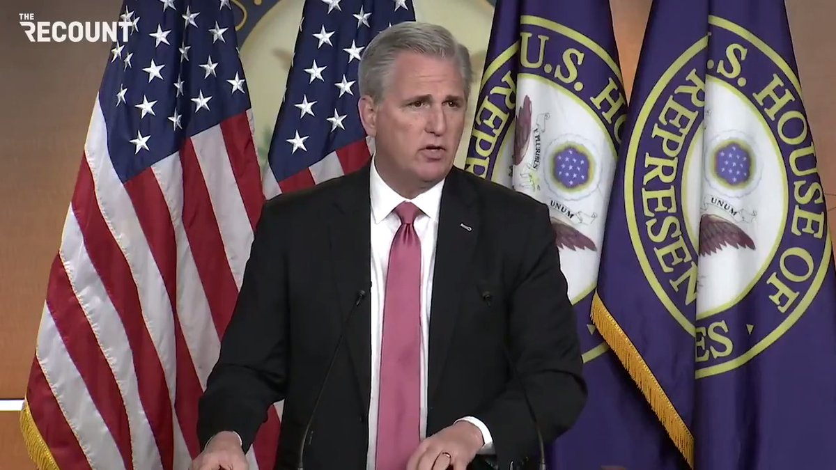"""House Minority Leader Kevin McCarthy says Trump did not provoke the Capitol riots:  """"I don't believe he provoked if you listened to what he said at the rally."""""""