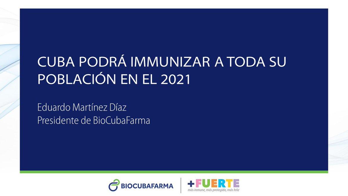 El desafío global es garantizar el acceso equitativo a las vacunas contra la #Covid19. A pesar de las dificultades que existen por el bloqueo, #Cuba será uno de los primeros países, que podrá inmunizar a toda su población en el 2021. #CubaPorLaVida #CubaEsCiencia https://t.co/bZY1vGr7ss