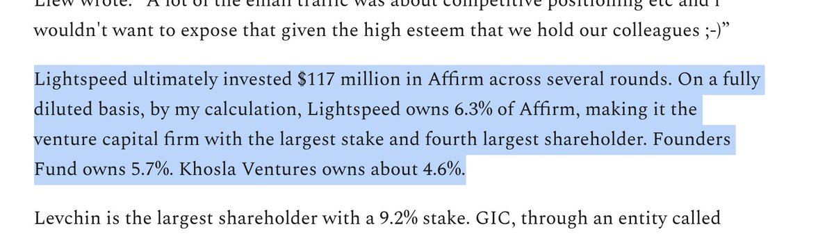 An epic investment and epic company  Always crazy to see how a 13%-15% ownership at Series A ends up at 5.7% at IPO though  https://t.co/3o8fU8aVGy  @EricNewcomer   https://t.co/3o8fU8aVGy https://t.co/EHVOgeTauP