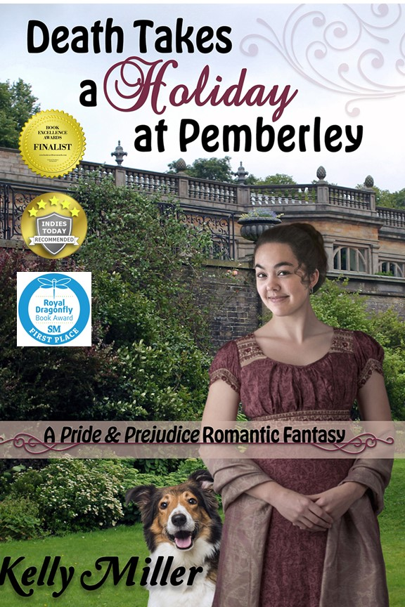 """@rtArtBoost @BlackettMusic @BlackettPromo 1st Place winner, Royal Dragonfly Book Awards! """"Death Takes a Holiday at Pemberley,"""" a #P&P Regency fantasy sequel. Mr Darcy meets an angel of death.  Free on KU!   Recommended by the Historical Novel Society, Indies Today, & Historical Romance Magazine!"""