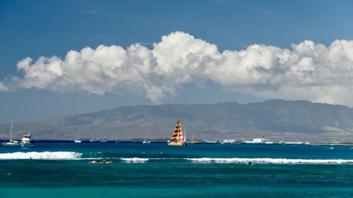 Live in Paradise!, Waikiki in Oahu, Hawaii.📸❤️🌴😷☀️🏖️⛵️🪂 #hawaii #waikikibeach #oahu #ilovehawaii