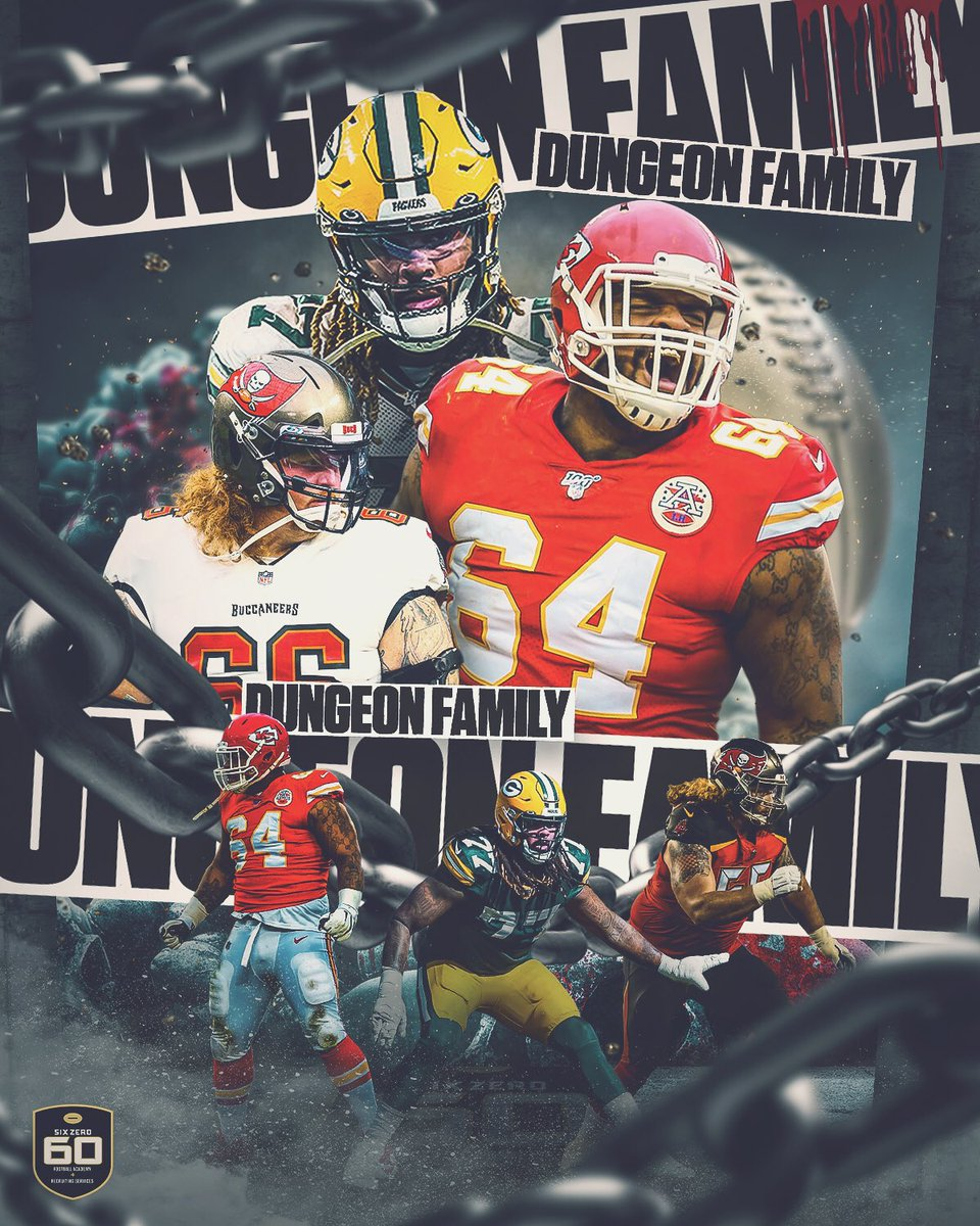#DungeonFamily IS DEEP IN #AFC #NFC CHAMPIONSHIP!! Can't wait for #NFL Sunday! @sinjen66 #GoBucs @Big_Mountain77 #GoPackGo & @TheBeastPennel #ChiefsKingdom #SixZero