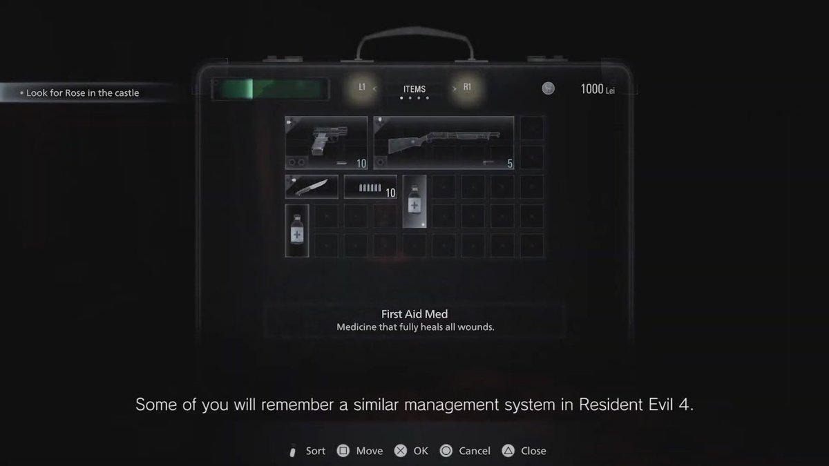 The #ResidentEvilVillage menagement system is similiar to Resident Evil 4.
