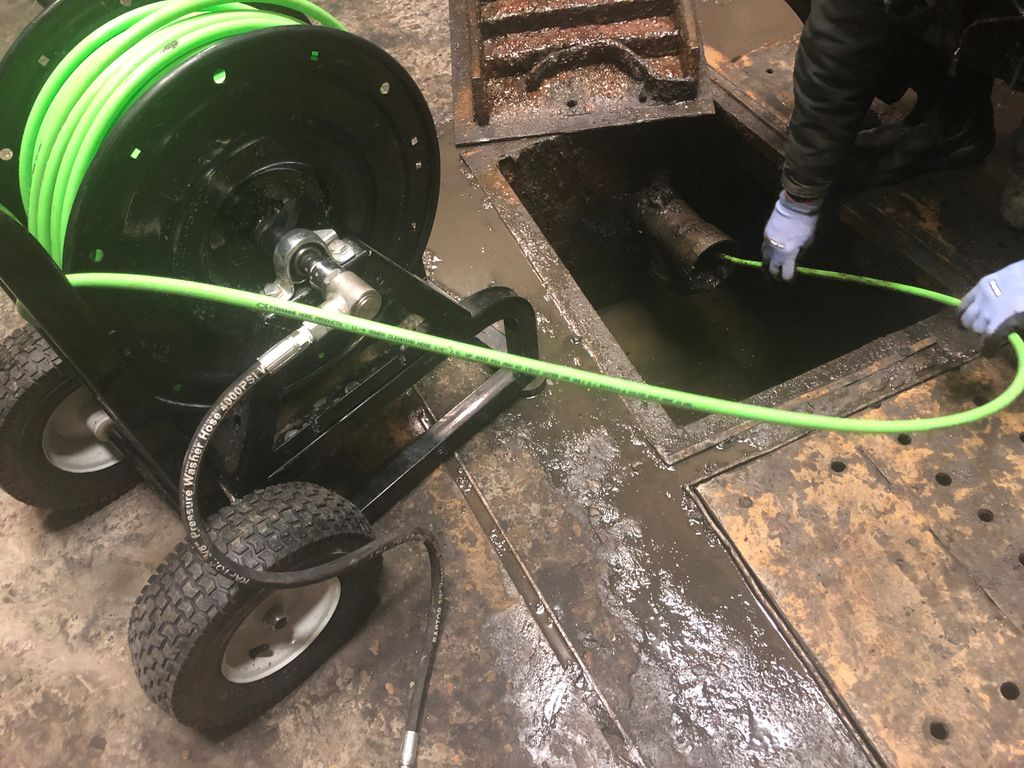 Dirty wash bay, no problems  This one was super greasy!   #yeg  #yegplumbing #plumbing #drainage #leaks  #digs #edmonton #toilets #backups #auger #sprucegrove #sherwoodpark #stalbert #leduc