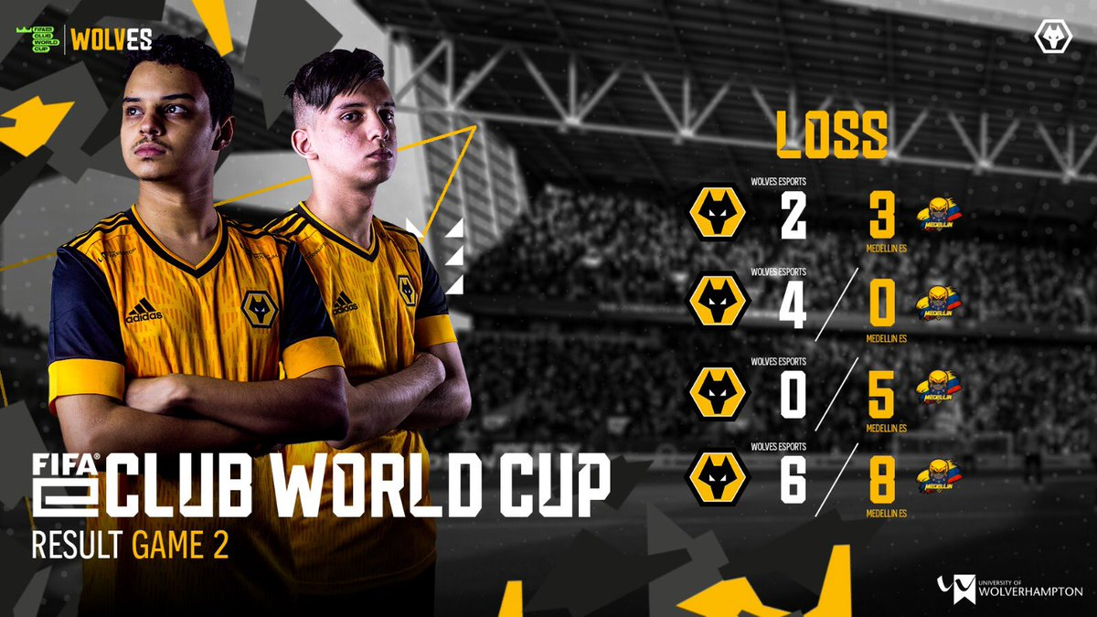 The decisive game unfortunately resulted in a loss for the wolves 😔 Next up is the loser bracket   #wolvesesports #FIFAeClubWorldCup