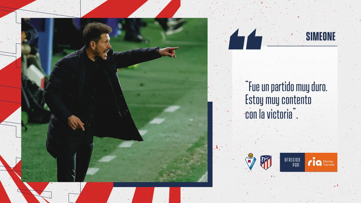📡 🔴  RUEDA DE PRENSA  🎙 @Simeone y su análisis de la victoria en el #EibarAtleti.   ℹ    🔴⚪#AúpaAtleti