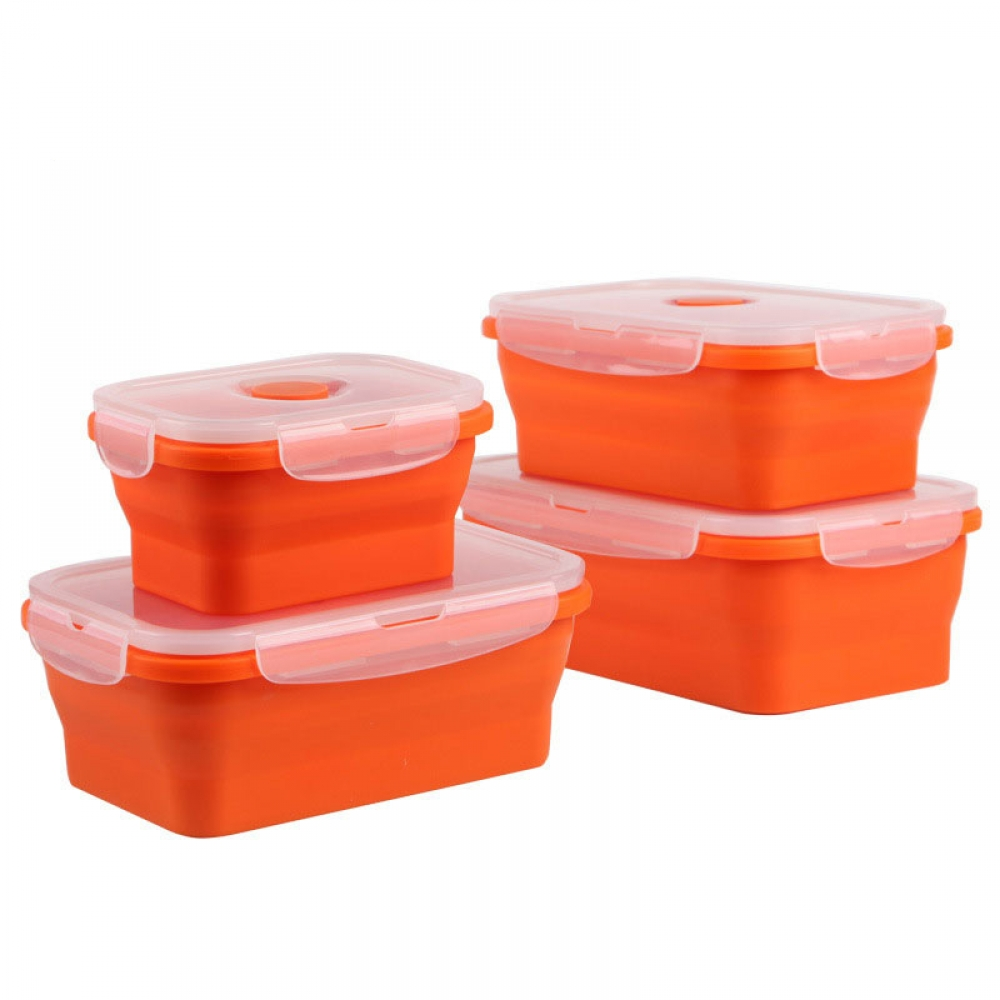 Portable Colorful Folding Food Storage Container #yummy #abs