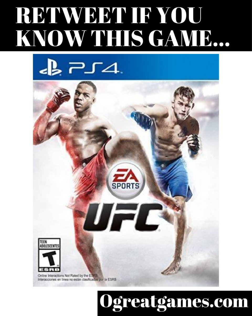 Retweet if you know of EA Sports UFC! #gamers #ufc #rt #videogame #playstation4 https://t.co/xJWSFc60CL