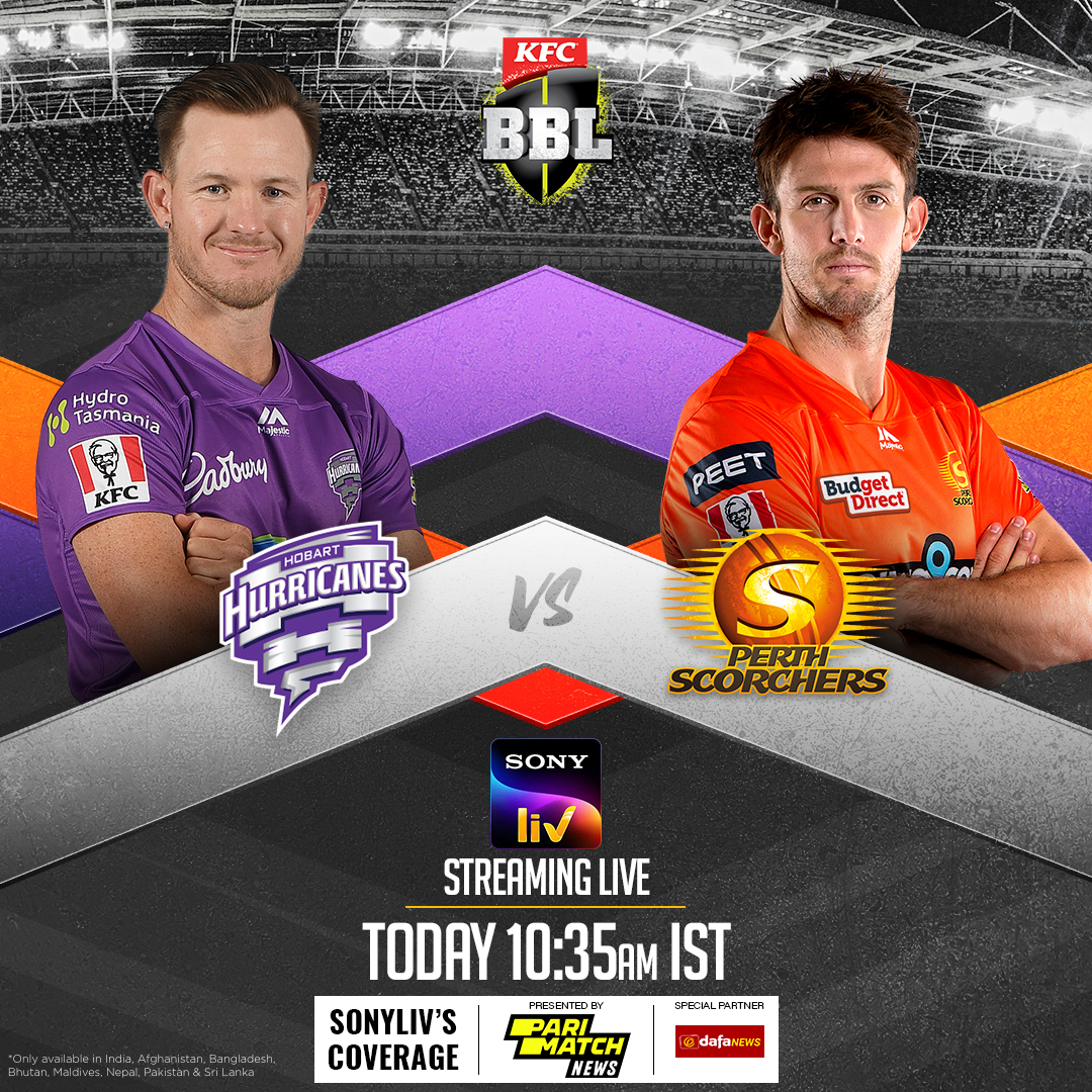 D'Arcy Short's Hurricanes take on the Scorchers🔥🏏 Which Sydney team will win the second encounter?🤔🔥  Hobart Hurricanes vs Perth Scorchers🌪️🔥 Sydney Sixers vs Sydney Thunder 6️⃣⚡  Watch the BBL, LIVE on #SonyLIV   ➡️ https://t.co/58qpRDz3GU https://t.co/e16NTO7iKY