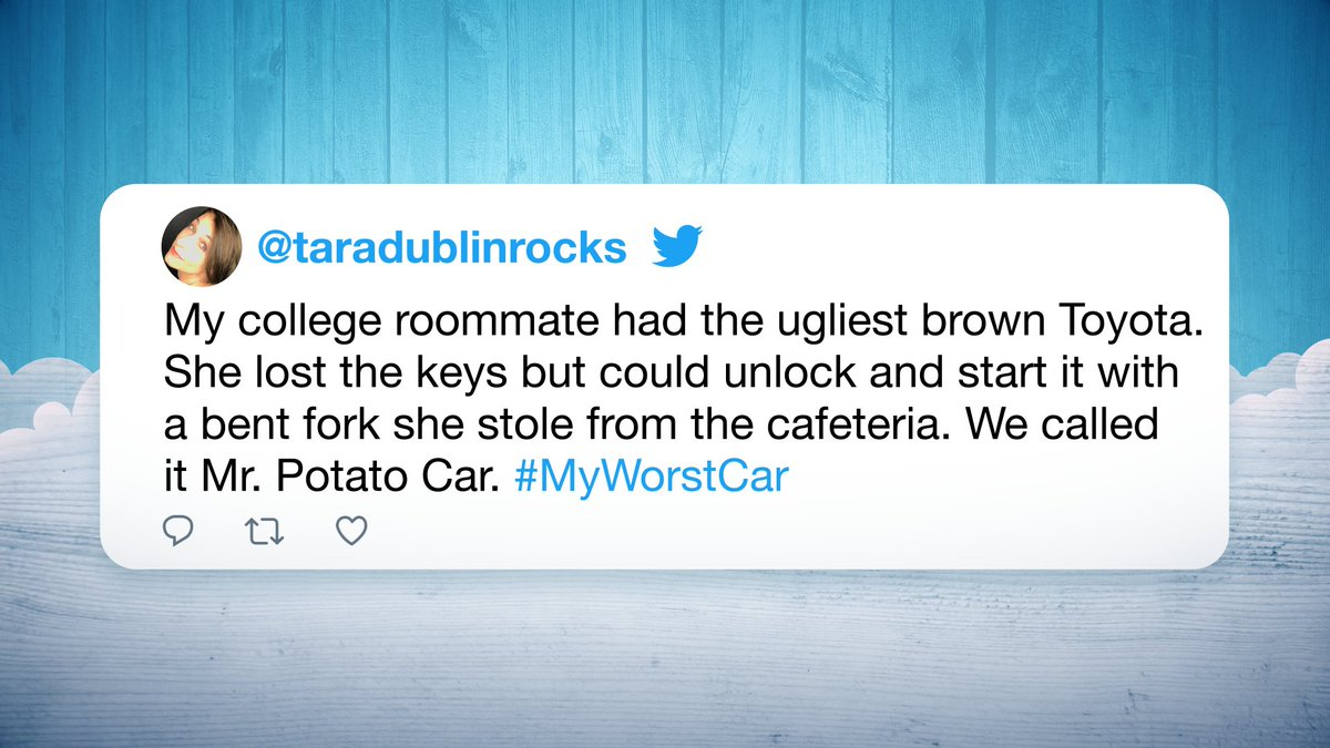These cars ➡️ Junkyard   From broken brakes to blinker blunders, here are some of your #MyWorstCar tweets! 👎🚗  #FallonTonight
