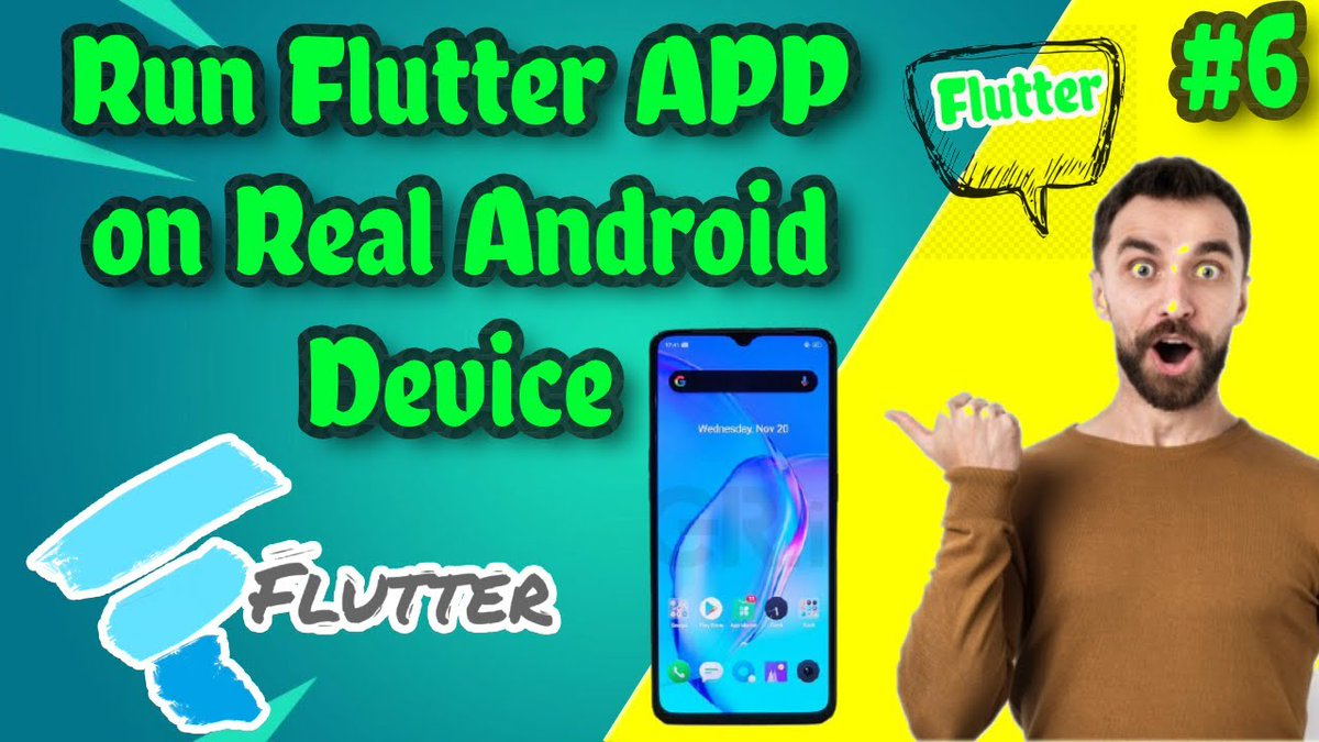 Flutter || Video-6 Run flutter app on a real device A Thread    #flutter #flutterdev #crossplatform #ios #android #DBMS  #programmingisfun  #codingwithjoy #programming  #Developer #challenge #100DaysOfCode #Django #dart #javascript #html #Python  #bootstrap