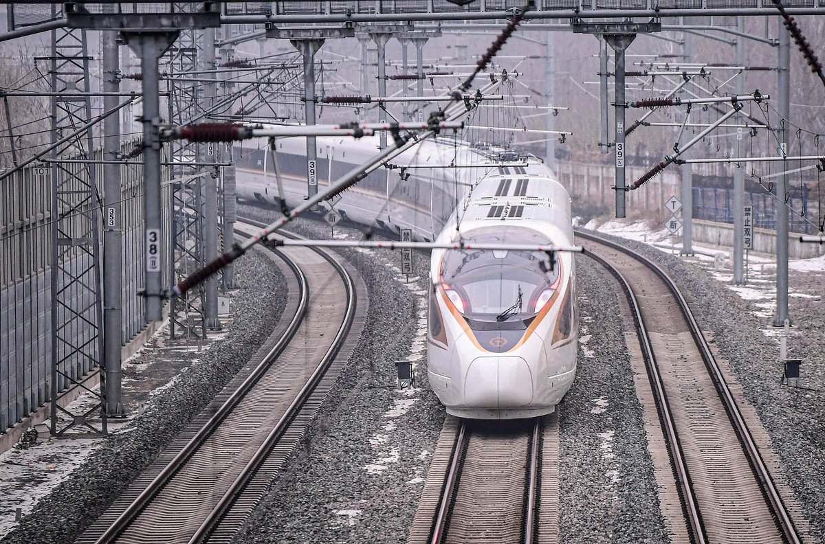 #China on Friday launched a new high-speed #railway service connecting Beijing with the northernmost major city of Harbin.  The whole railway journey, the equivalent of Philadelphia to Atlanta, lasts less than five hours at a top speed of 350 km/h.