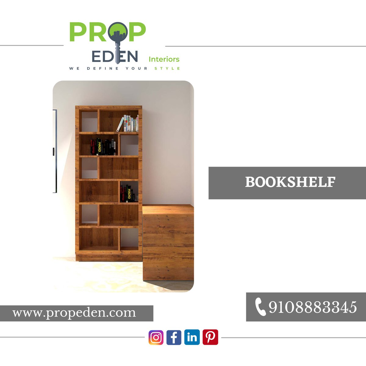 """""""Interior Visualization""""  """"I love walking into a bookstore. It's like all my friends are sitting on shelves, waving their pages at me.""""  For More Information, Connect Us on, 9108883345   . . . . . #bookshelf #bookstagram #books #booklover #bookworm #book"""