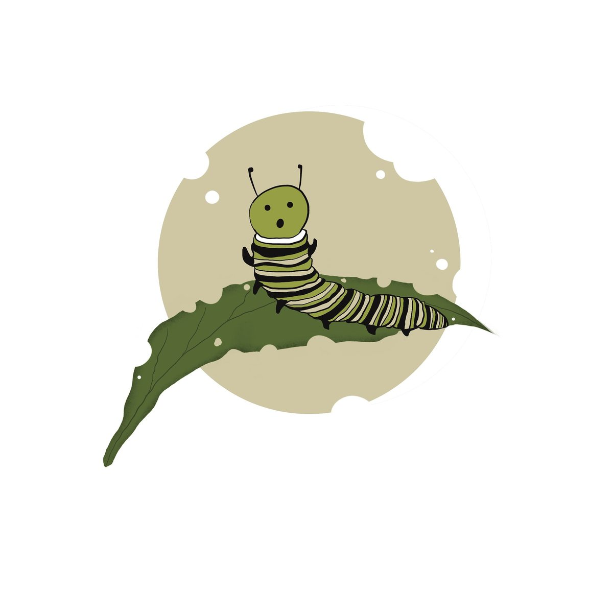Caught red handed 😜 #oviarts   #digitalart #art #inspiration #eat #food #caterpillar #insect #happiness #art #happy