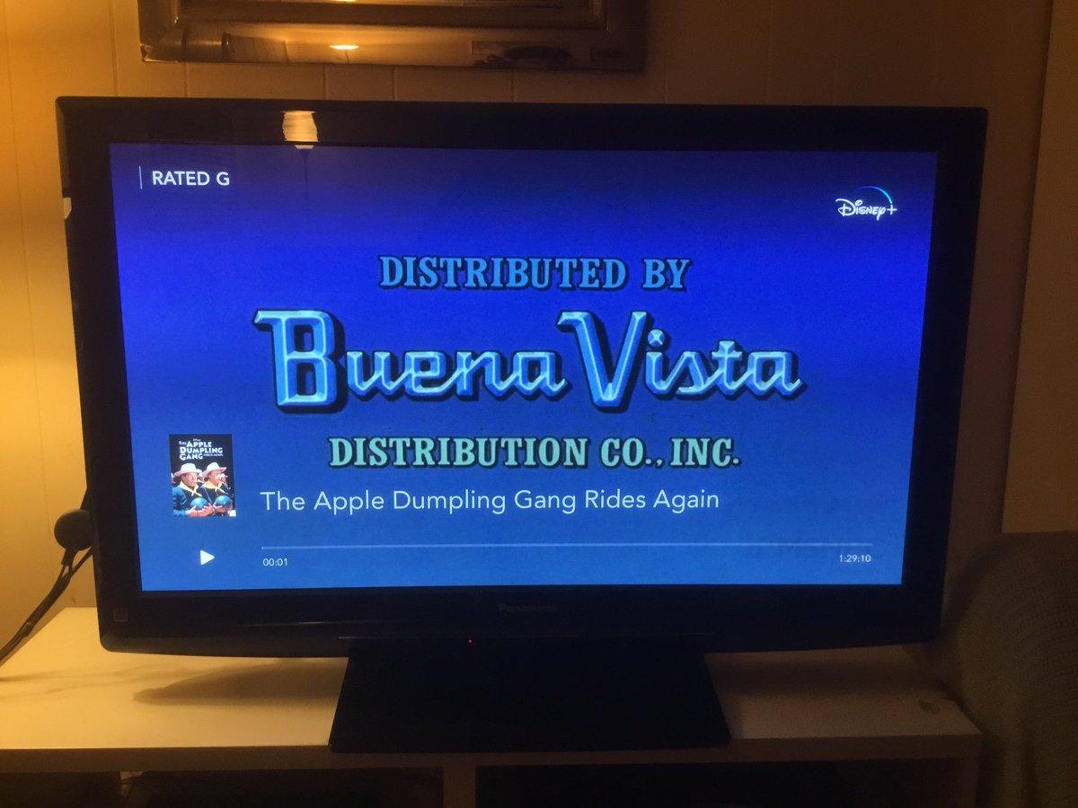 I'm Now Watching The Apple Dumpling Gang Rides Again On Disney+ #WaltDisneyArchives #D23 #WaltDisney #Disney #DisneyPlus #AtHomeWithD23 #TheAppleDumplingGangRidesAgain #TheAppleDumplingGang #DonKnotts #TimConway #ABC7Eyewitness