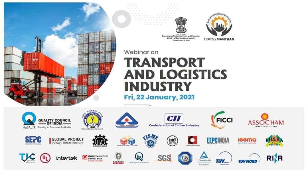 #transport and #logistics #INDUSTRY is evolving rapidly. #IndianEconomy #infrastructure #EconomicDevelopment   Register@  #productivity #Quality #challenge #UdyogManthan  #webinar #freight #exports #Connectivity #aviation #IndianRailways #highways #roadway