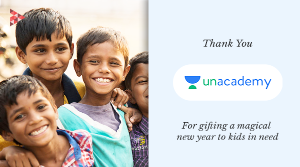 Big thanks to team @unacademy for spreading joy in the lives of 700+ kids in need, at the onset of #NewYear2021. Cheers to all #Unacademians and NGO Everest for cracking this noble pursuit with the Christmas fundraising campaign.