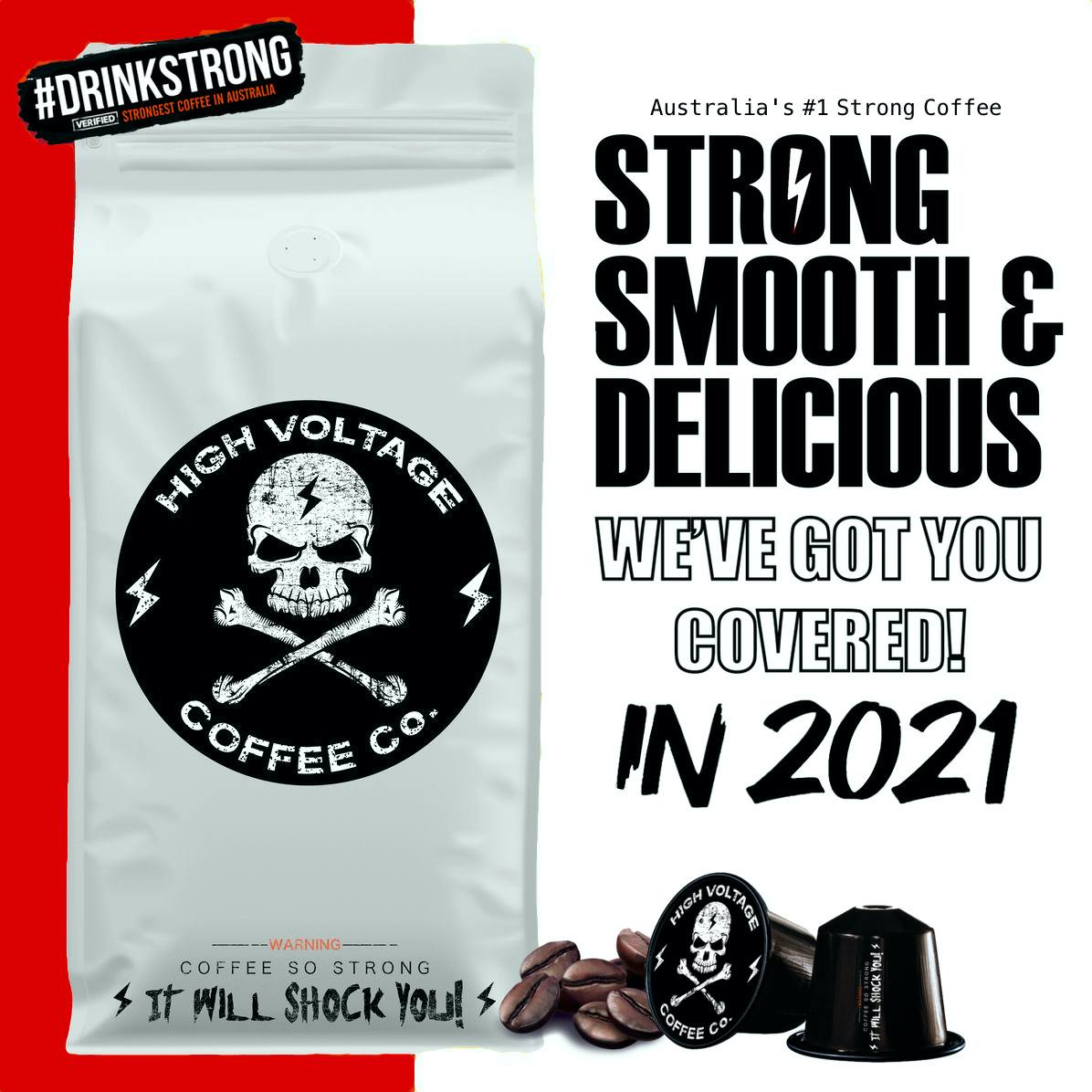 Now that the celebrations are over, High Voltage Coffee Co is here to help you get through 2021 the right way! ☠ WE'VE GOT YOU COVERED IN 2021 with Australia's #1 Strong Coffee! #HappyNewYear2021 #coffee #AustraliaDay  #HighVoltageCoffee #love #NewYear #coffeetime #coffeebreak