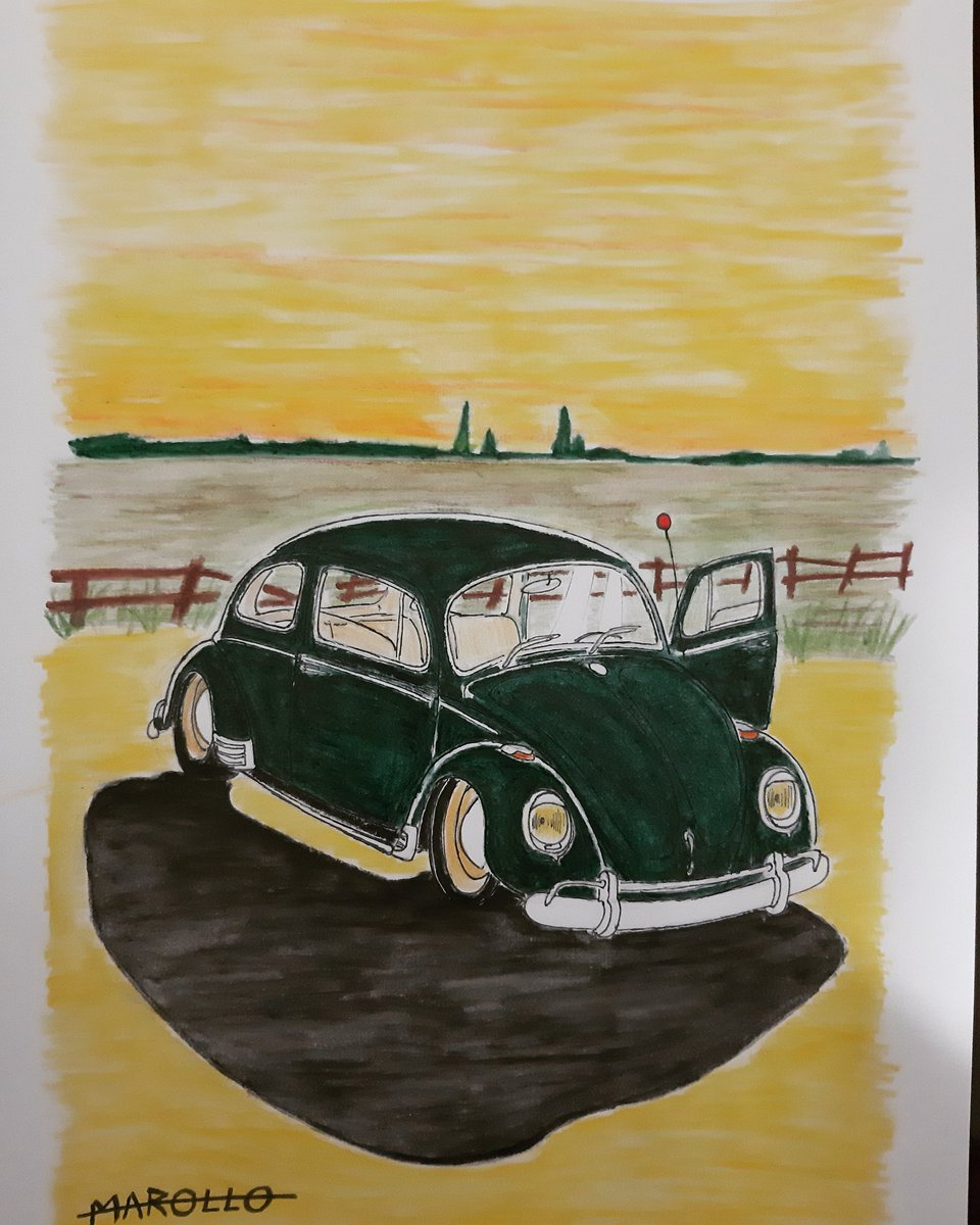 Green bug and yellow sky  #art #arte #ilustração #ilustration #desenho #drawing #cars #classics #classicos #carrovelhos #fusca #vw #nature #natureza #sunset https://t.co/MYQsuOv3Ue