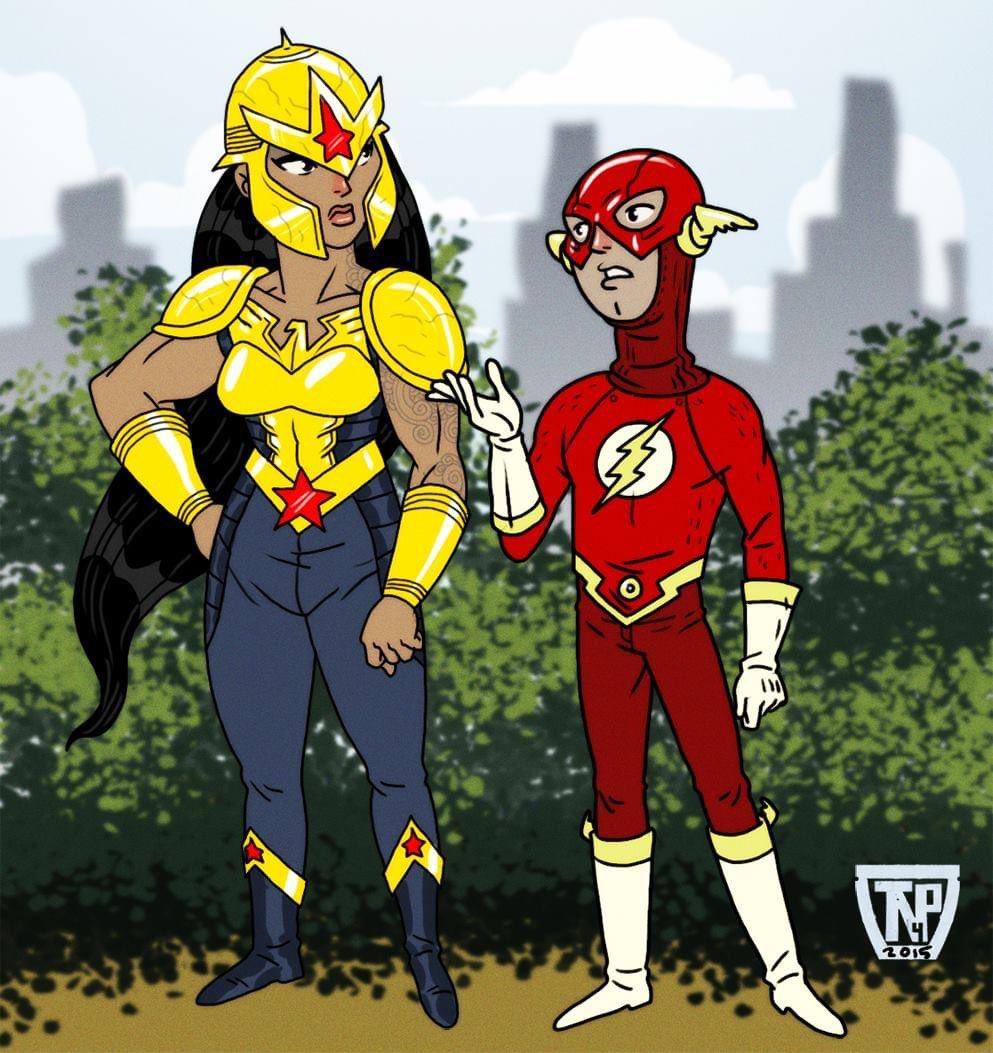 #tbt #alternateuniverse #flashback #dc #wonderwoman #flash