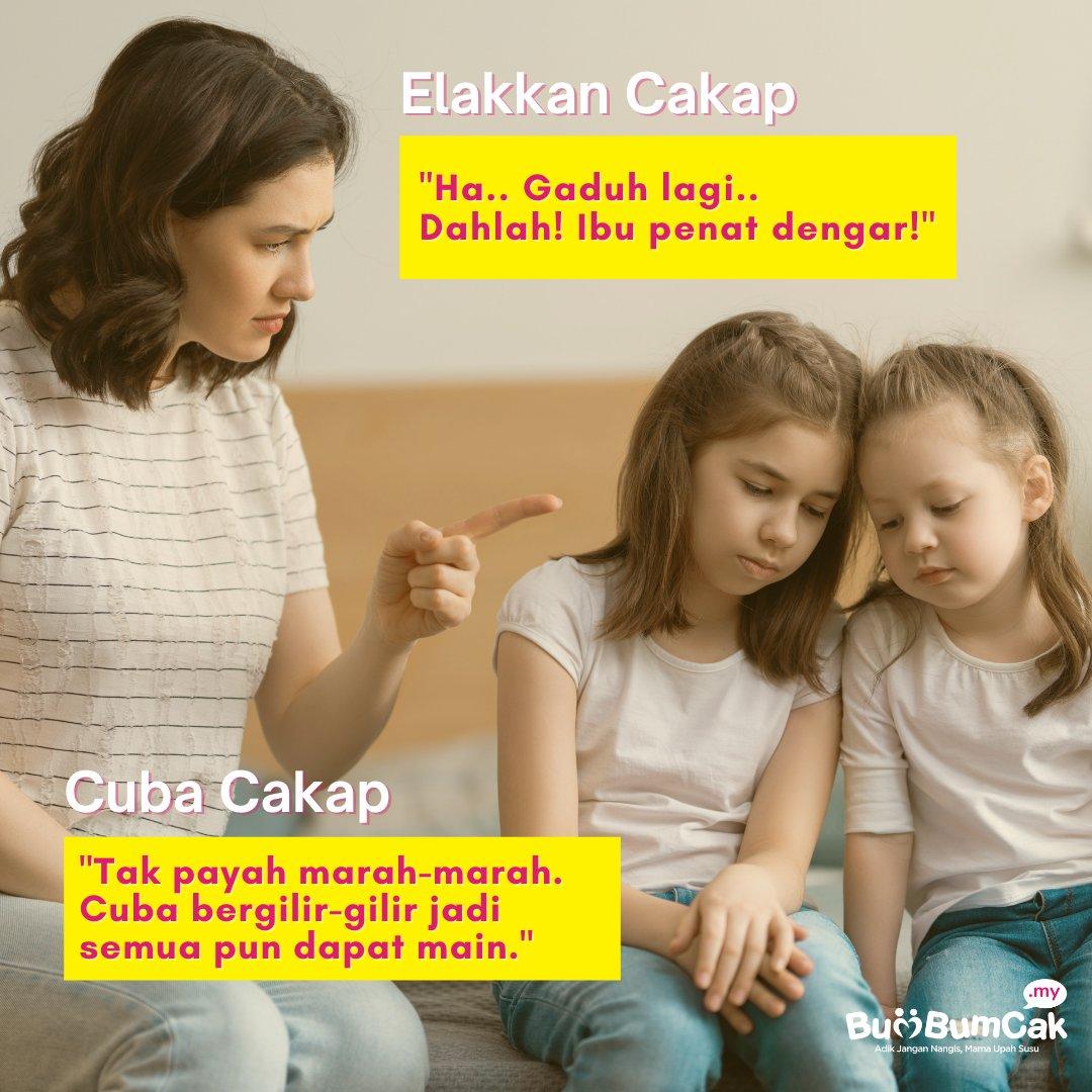Anak-anak kalau gaduh pasal mainan tak sah lah kan! Tapi macam mana korang handle mereka gaduh? 🤔  #bumbumcak #keibubapaan #anakanak #gaduh #siblings #parenthood